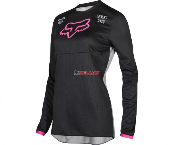 FOX Girls Jersey: 180 Mata, schwarz/pink