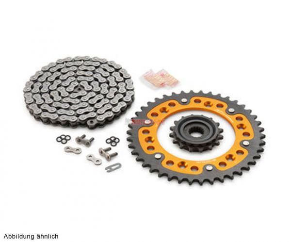 KTM Kettensatz/Kettenkit X-Ring/Stealth orange SX/EXC 91-, 14/50 Zähne