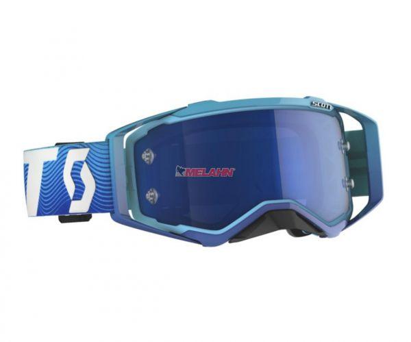 SCOTT Prospect Goggle Motocross MTB MX Enduro Cross Brille blau-weiß electricblue verspiegelt
