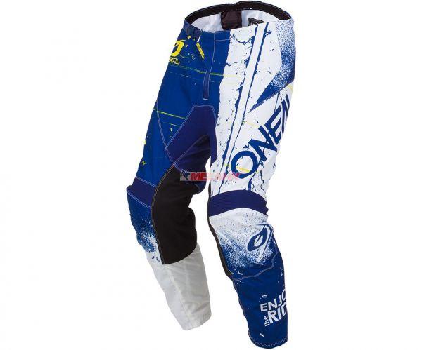 ONEAL Hose: Element SHRED, blau/weiß