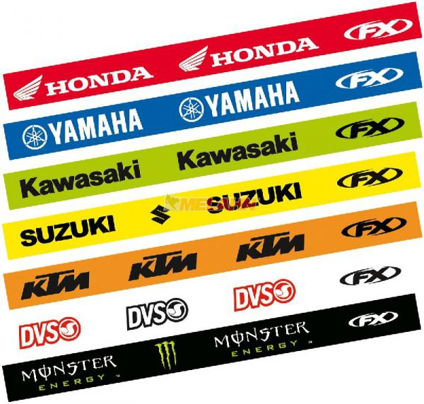 FX Felgenringaufkleber-Kit: KAWASAKI 12/10 Zoll