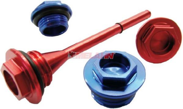 ZAP Aluminium-Öleinfüllschraube mit Messstab CRF 450 09-, rot