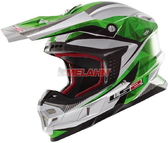 LS2 Helm: MX 456 Light, Quartz , weiß/grün