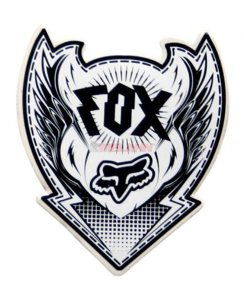FOX Aufkleber: Division, 8x10cm, schwarz