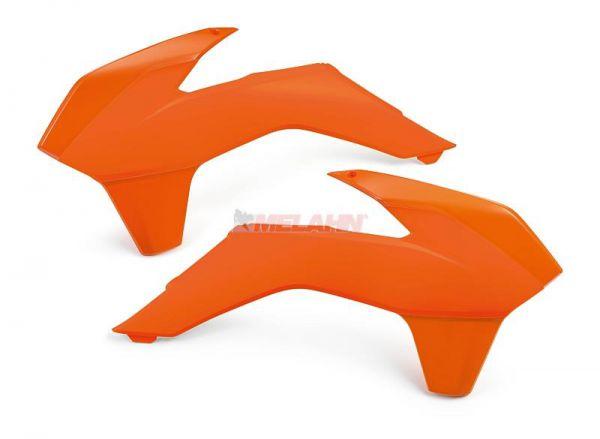 KTM Spoiler (Paar) ohne Dekor, zweifarbig, SX/SMR 13-15 / EXC 14-16, orange/orange
