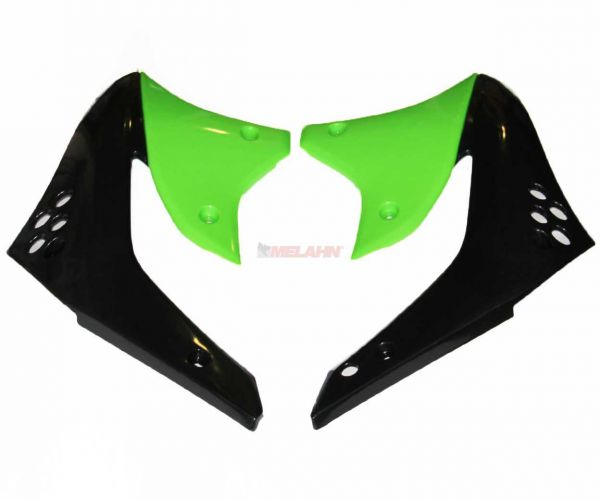 X-FUN Spoiler (Paar) Kühlerverkleidung KXF 450, grün/schwarz