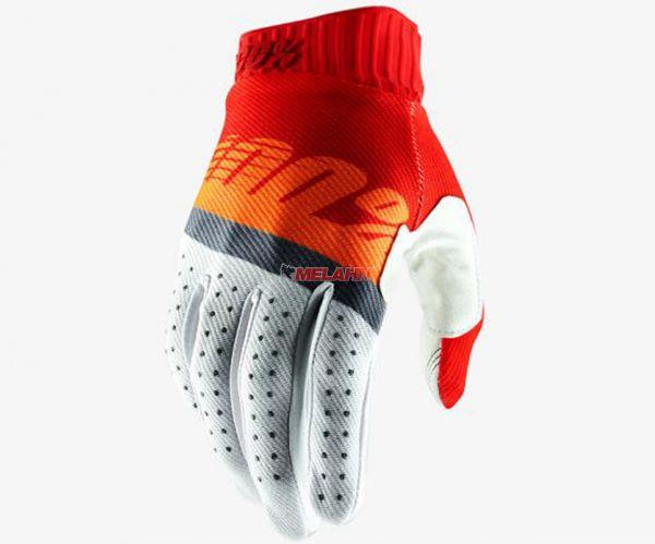 100% Handschuh: Ridefit, rot/orange/weiß