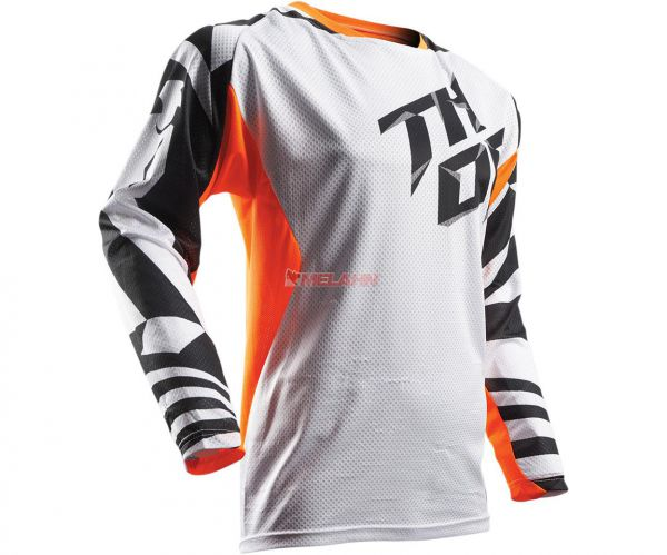 THOR Jersey: Fuse Air Dazz, orange/weiss