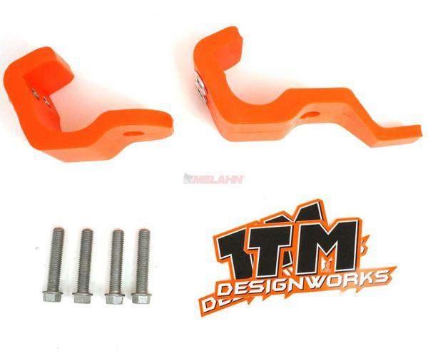 T.M. DESIGNWORKS Gabelfuß-Protektor (Paar) KTM 16- / HUSQVARNA 16- / SHERCO 17-, orange