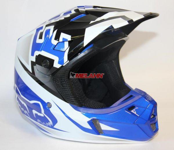 FOX Helm: V2 Anthem, blau