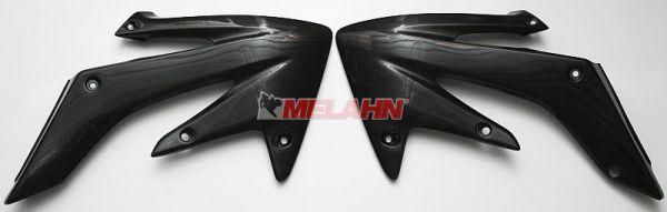 UFO Spoiler (Paar) Kühlerverkleidung, CRF 250 04-09, schwarz