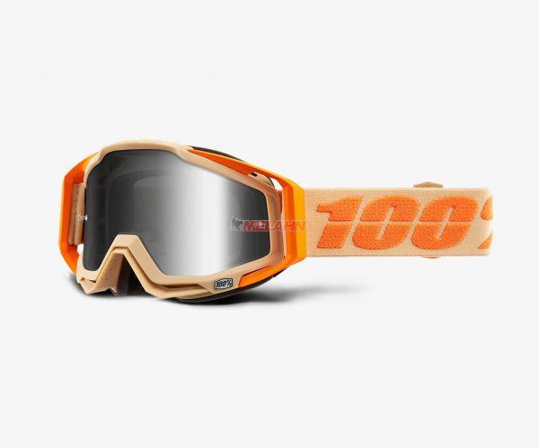 100% Brille: Racecraft Sahara, orange silber verspiegelt