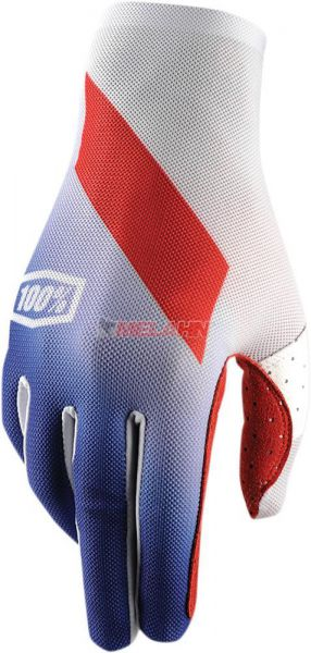 100% Handschuh: Celium,weiß/blau/rot