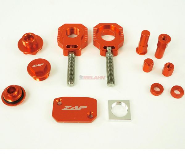 Zap Aluminium-Frästeile-Kit KTM EXC 07-16 / SX 07-12, orange