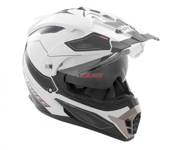 ROCC Helm: 771, weiß/schwarz