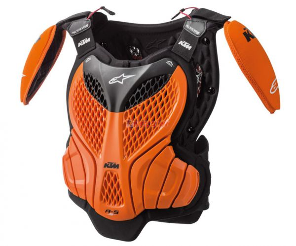 ALPINESTARS Kids Brustpanzer: KTM A5, orange/schwarz