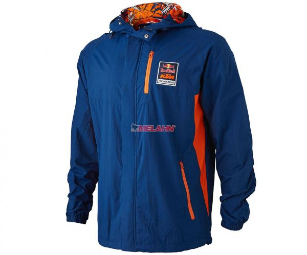KTM RED BULL Jacke (Windbreaker): KTM Racing Team, navy/orange