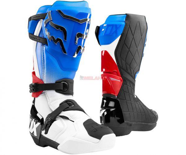 FOX Stiefel: Comp R, blau/rot