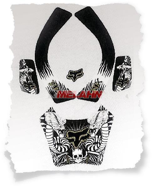 FOX I.D.-Aufkleber Kit: Airframe, schwarz
