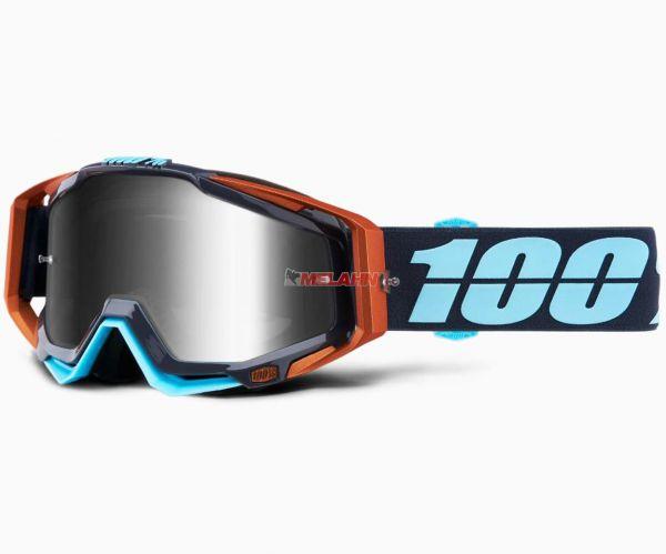 100% Racecraft Ergono Goggle Motocross MTB MX Enduro Cross Brille, verpsiegelt, schwarz/blau