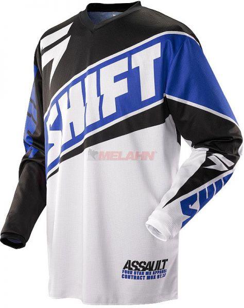 SHIFT Hemd: Assault Race, blau/weiß