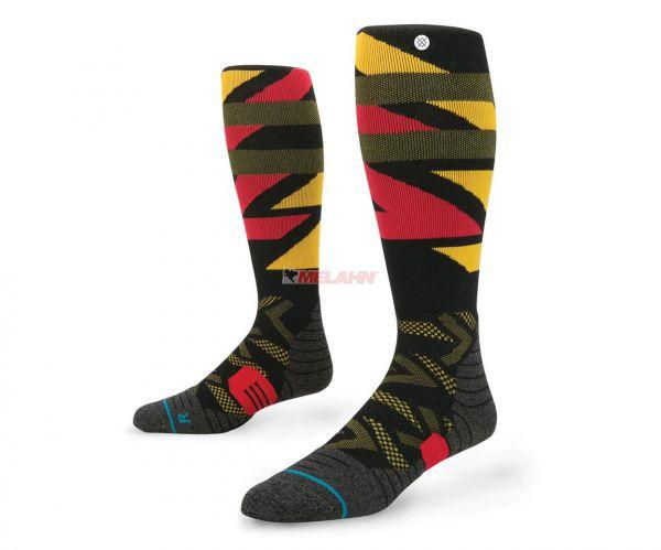 STANCE Socke (Paar): Patton, schwarz/gelb(rot
