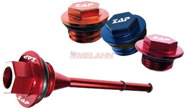 ZAP Aluminium-Öleinfüllschraube mit Messstab CRF 250 04-09, rot