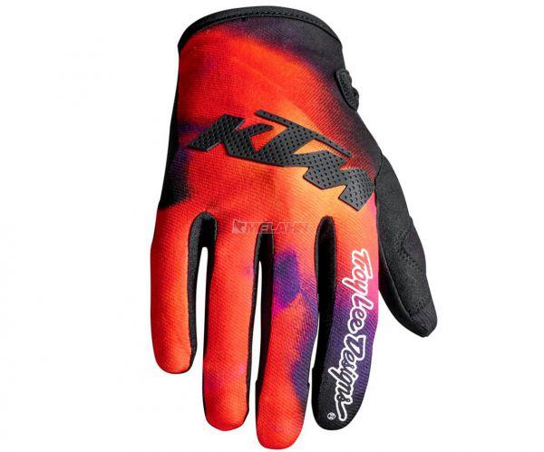 KTM TLD Handschuh: SE Slash, orange/schwarz/purple