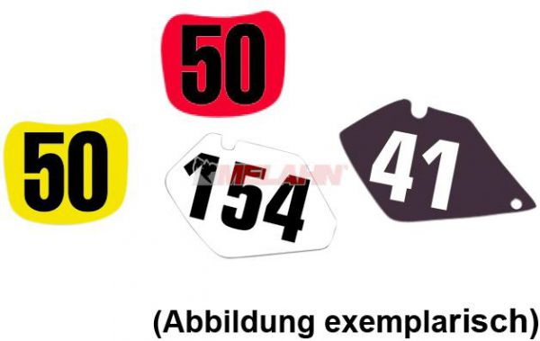 BLACKBIRD Startnummernuntergrund RM 125/250 01-09, rot