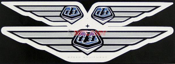 TROY LEE DESIGNS Aufkleber-Kit: Wing-Emblem, blau