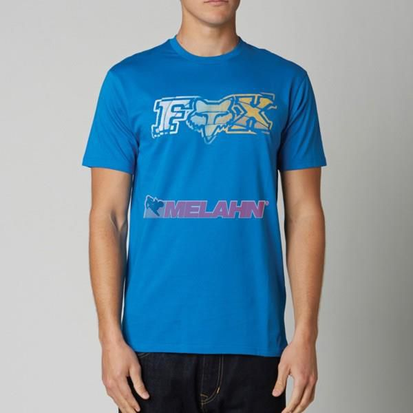 FOX T-Shirt: Crazed, blau