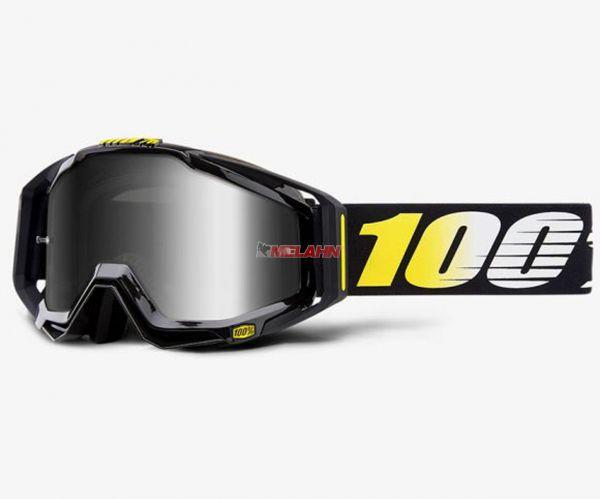 100% Racecraft Cosmos 99 Goggle Motocross MTB MX Enduro Cross Brille, schwarz, verspiegelt