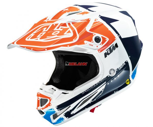TROY LEE DESIGNS Helm: SE4 KTM, weiß/orange/blau