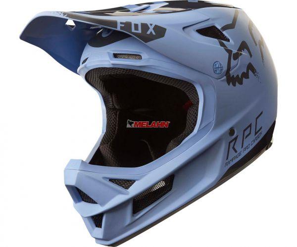 FOX MTB-Helm: Rampage Pro Carbon Moth, blau/schwarz