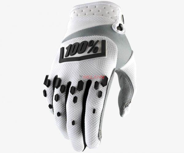 100% Handschuh: Airmatic, weiß/schwarz