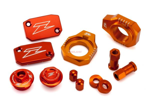ZETA Aluminium-Frästeile-Kit KTM SX 07-12 / EXC 07-, orange