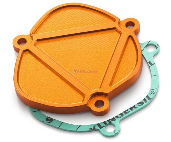 KTM SXS Aluminium-Deckel Auslasssteuerung 250/300, orange