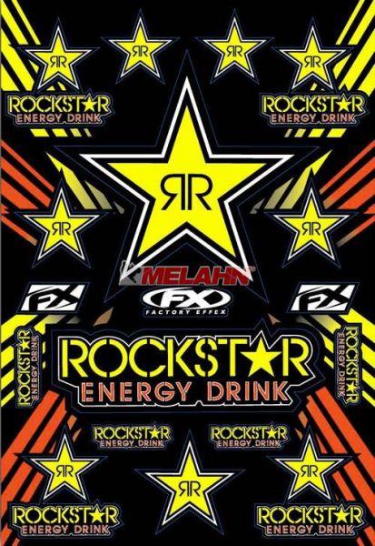 FX Aufkleberkit Rockstar Energy, gelb