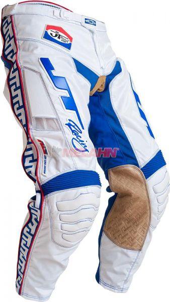 JT-RACING Hose: Classic, weiß/blau