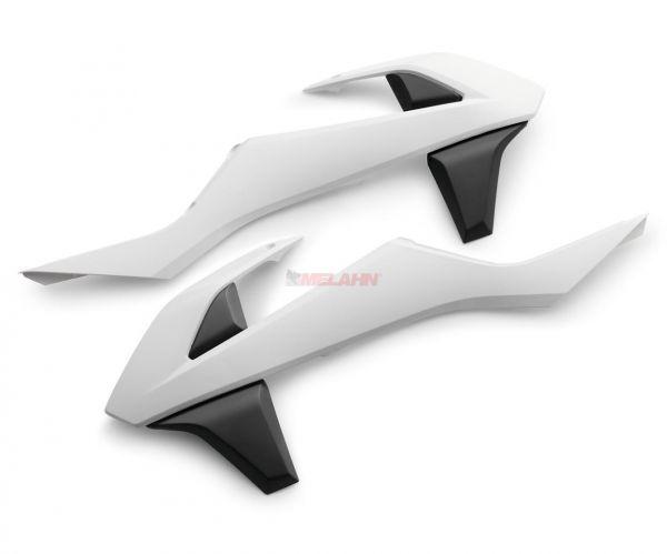 KTM Spoiler (Paar) ohne Dekor, zweifarbig, SX 16-18 / EXC 17-19, weiß/schwarz