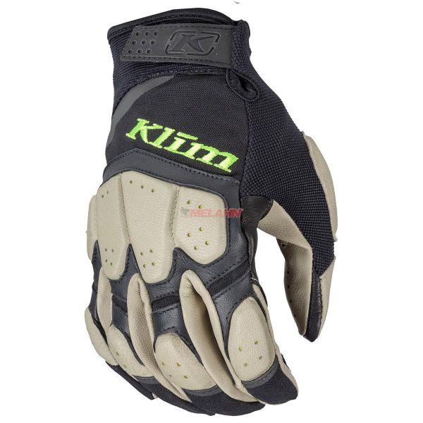 KLIM Handschuh: Dakar PRO, schwarz/sand/lime