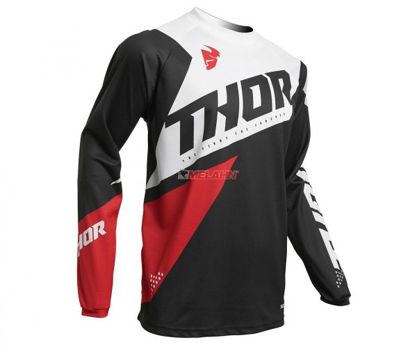 THOR Jersey: Sector Blade, grau/weiß/rot