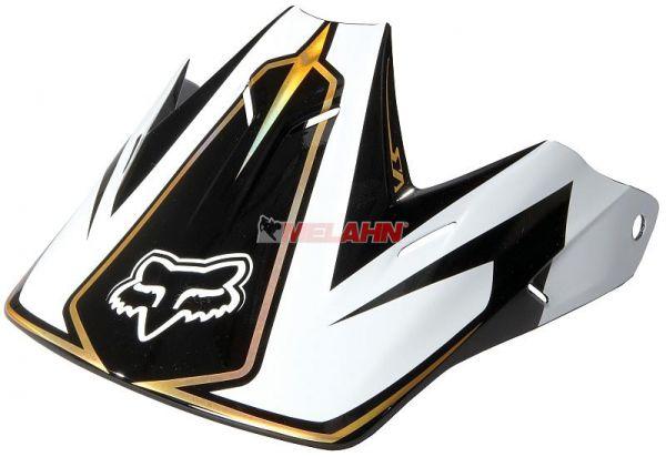 FOX Helmschirm: Visor V3 Carbon schwarz/weiß