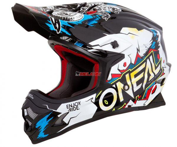 ONEAL Helm: 3Series, VILLAIN, weiß/multi