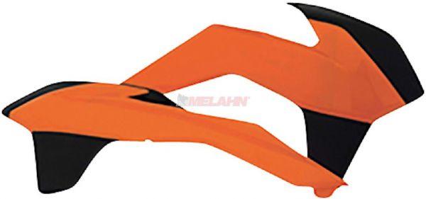 POLISPORT Spoiler (Paar) KTM SX 16-18 / EXC 17-19, orange/schwarz