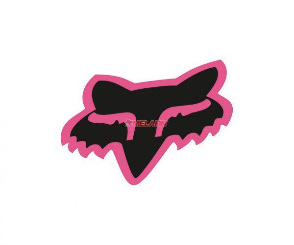 FOX Aufkleber: Head 18 cm, pink/schwarz