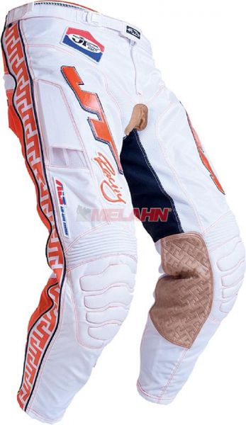 JT-RACING Hose: Classic, weiß/orange
