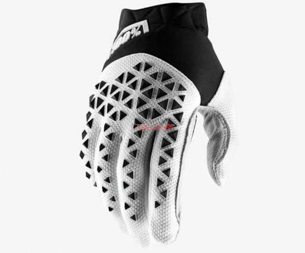 100% Handschuh: Airmatic , schwarz/weiß/silber