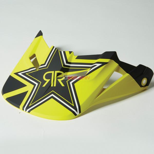 FOX Helmschirm: V1 Visor (2014) Rockstar, schwarz/gelb