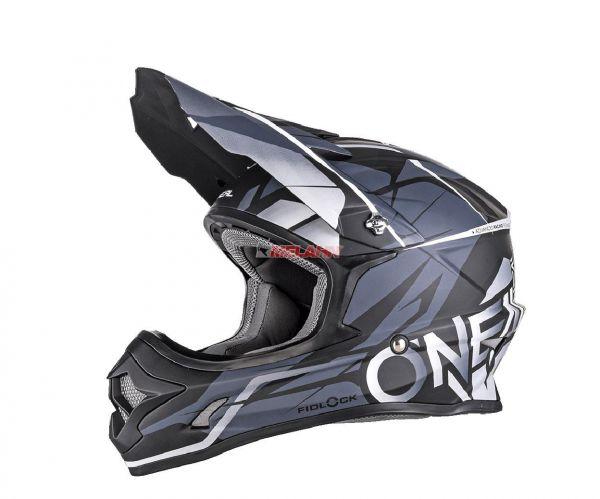 ONEAL Helm: 3Series, Freerider Fidlock, schwarz/grau